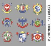coat of arms collection ... | Shutterstock . vector #493186636