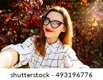 Autumn Selfie Portrait Of A...