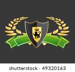 shield with ribbons and laurels | Shutterstock .eps vector #49320163