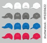 baseball cap set | Shutterstock .eps vector #493203622