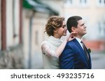 beautiful and charming couple... | Shutterstock . vector #493235716
