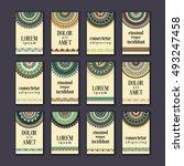 vintage banners cards set.... | Shutterstock .eps vector #493247458