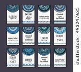 vintage banners cards set....   Shutterstock .eps vector #493247635