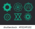 vector abstract modern logo... | Shutterstock .eps vector #493249102