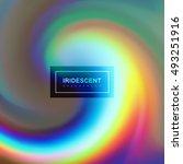 fluid iridescent multicolored... | Shutterstock .eps vector #493251916