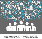 social network background of... | Shutterstock .eps vector #493252936