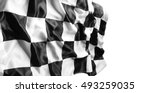 checkered black and white flag | Shutterstock . vector #493259035