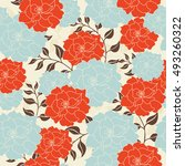 seamless pattern with beautiful ... | Shutterstock .eps vector #493260322