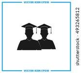graduate icon vector... | Shutterstock .eps vector #493265812