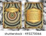 invitation card design template....   Shutterstock .eps vector #493270066