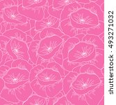 seamless floral pattern with... | Shutterstock . vector #493271032