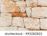 Stone Wall Pattern. Close Up O...