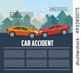 car accident infographics. car... | Shutterstock .eps vector #493285075