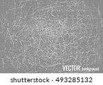scratched texture with white... | Shutterstock .eps vector #493285132