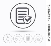 file selected icon. document... | Shutterstock .eps vector #493295542