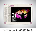 open magazine layout ready to... | Shutterstock .eps vector #493299412