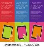 vector banner with mobile... | Shutterstock .eps vector #493302136