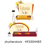 furniture. autumn sale.... | Shutterstock .eps vector #493304485