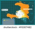 Haiti With A Hurricane Making ...