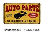 auto parts vintage rusty metal... | Shutterstock .eps vector #493314166