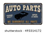 auto parts vintage rusty metal... | Shutterstock .eps vector #493314172