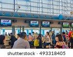 osaka  japan   may 17  kansai... | Shutterstock . vector #493318405