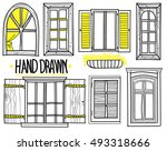 awindow. a set of drawings by... | Shutterstock .eps vector #493318666