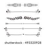 text divider  grunge element...   Shutterstock .eps vector #493320928