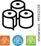 paper rolls icon | Shutterstock .eps vector #493322128