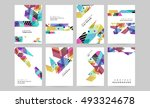 geometric background template... | Shutterstock .eps vector #493324678