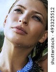 beauty  fashion. close up... | Shutterstock . vector #493325512