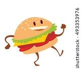 vector cartoon image of a funny ...   Shutterstock .eps vector #493353976