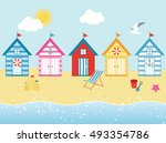 By The Seaside   Beach Huts In...