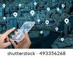 futuristic transparent smart... | Shutterstock . vector #493356268
