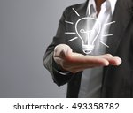 hands of business person... | Shutterstock . vector #493358782