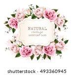 natural vintage greeting card...   Shutterstock .eps vector #493360945
