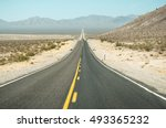 the road went off to the... | Shutterstock . vector #493365232