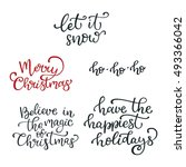 set of hand drawn vector quotes.... | Shutterstock .eps vector #493366042