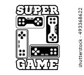 computer and video game game... | Shutterstock .eps vector #493368622