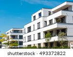 White Modern Townhouses Seen I...