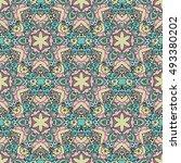 seamless pattern ethnic style.... | Shutterstock . vector #493380202
