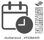 date time pictograph with bonus ... | Shutterstock .eps vector #493386445