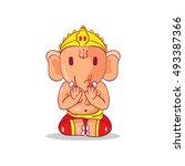 illustration of little cartoon... | Shutterstock .eps vector #493387366