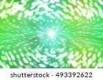 bokeh light blue and green... | Shutterstock . vector #493392622