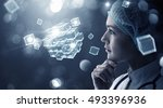 innovative technologies in... | Shutterstock . vector #493396936