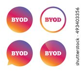 byod sign icon. bring your own... | Shutterstock .eps vector #493403356