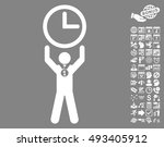 time champion pictograph with... | Shutterstock .eps vector #493405912