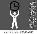 time champion pictograph with... | Shutterstock .eps vector #493406986