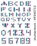 vector illustration of alphabet ... | Shutterstock .eps vector #49340713