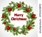 christmas background with...   Shutterstock .eps vector #493410892
